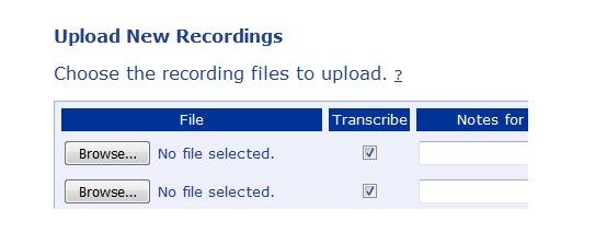 Easily upload multiple transcription formats on the website