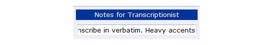Note adding feature allows for a customizable and general transcription