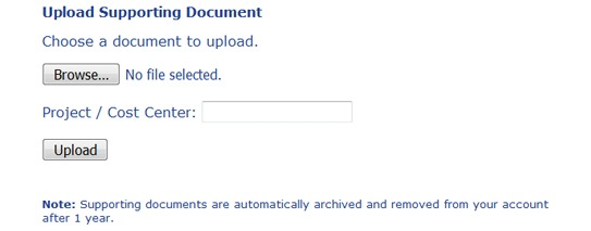 Upload File Feature allows the user to customize any general transcriptions