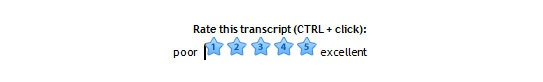 Rate Transcriptionwing from one to five