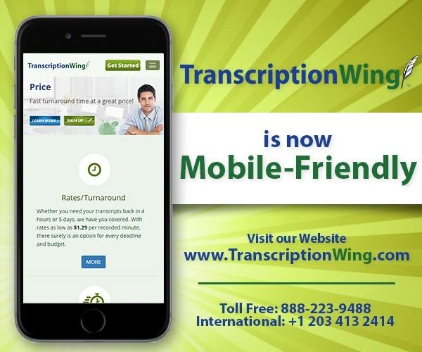 TranscriptionWing™ Launches Mobile Friendly Website