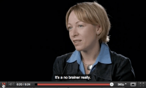 Video caption sample with text that says it's a no brainer really