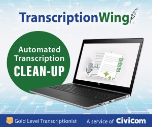 TranscriptionWing offers automated transcription clean up for Sonix customers
