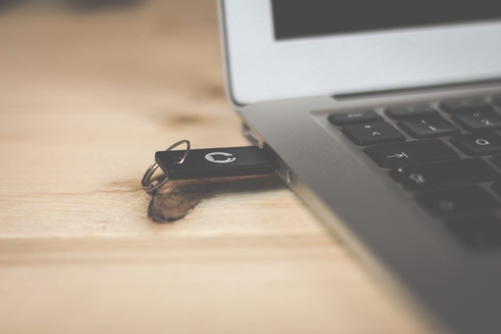 you can save interviews on a flash drive on your laptop