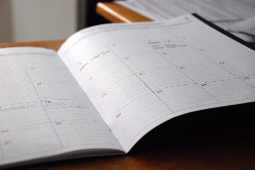 you can use calendars or planners to schedule and coordinate interviews successfully