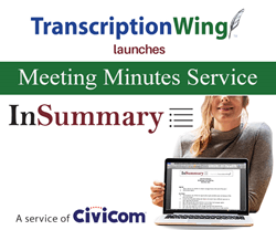 TranscriptionWing™ Launches Meeting Minutes Service InSummary™