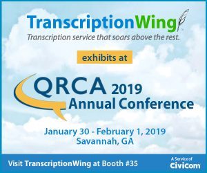 2019 QRCA Annual Conference TranscriptionWing exhibitor