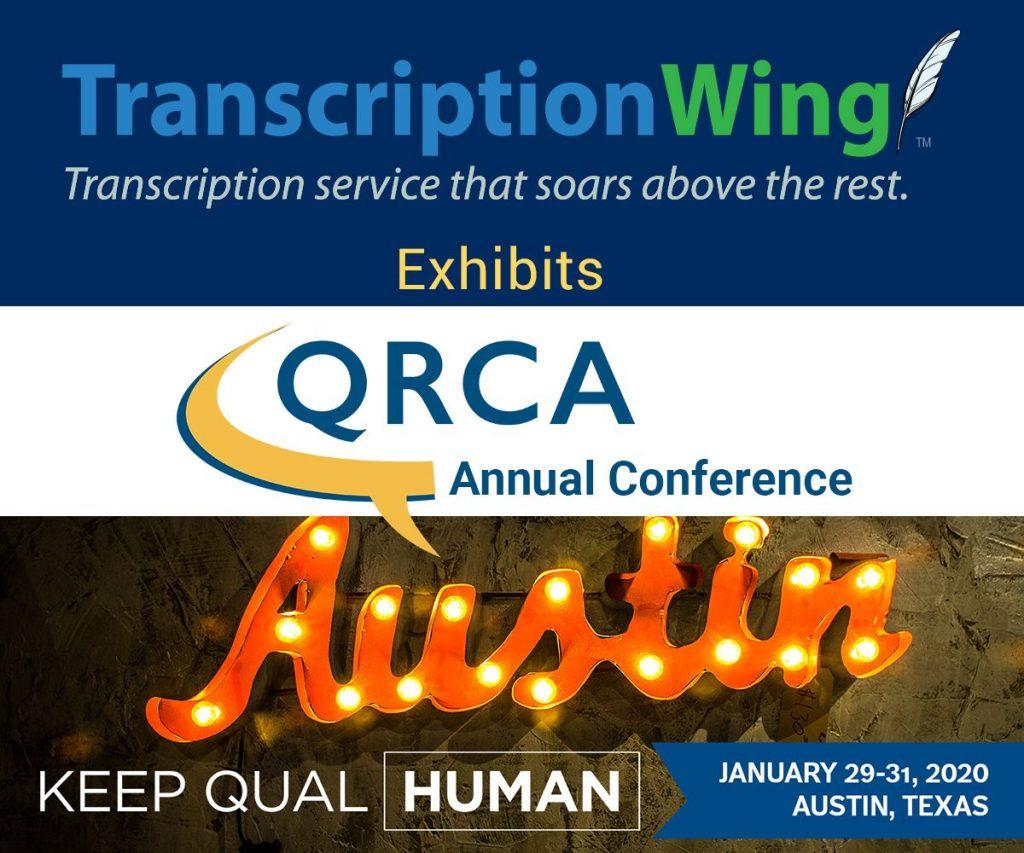 Transcriptionwing Exhibitor 2020 QRCA Annual Conference