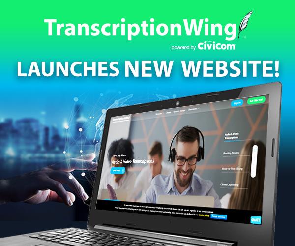 Civicom TranscriptionWing Launches Modern Design Website 2020